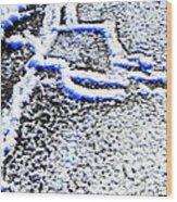 Driveway Frost Wood Print
