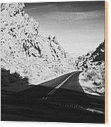 Driving Through Canyons On The White Domes Road Scenic Drive Valley Of Fire State Park Nevada Usa Wood Print by Joe Fox