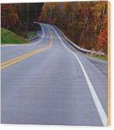 Driving Through Fall Wood Print