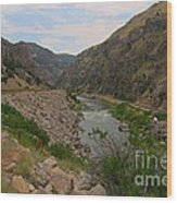 Driving Through Wind River Canyon Wood Print