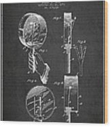Droop Hand  Drum Patent Drawing From 1892 - Dark Wood Print
