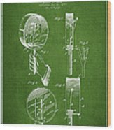 Droop Hand  Drum Patent Drawing From 1892 - Green Wood Print