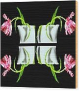 Droopy Tulips Wood Print