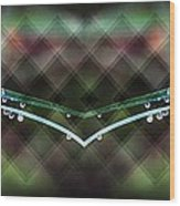 Droplets Abstract Wood Print