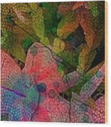 Drops Of Color Wood Print