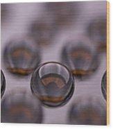 Drops Of Water II Wood Print
