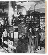 Drugstore, 1897 Wood Print