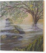 Druid's Altar At Mystic River Wood Print