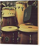 Drum Beat Wood Print