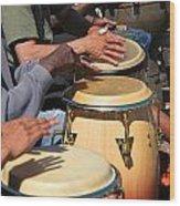 Drum Jammin In Golden Gate Park Wood Print
