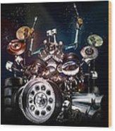 Drum Machine - The Band's Engine Wood Print by Alessandro Della Pietra