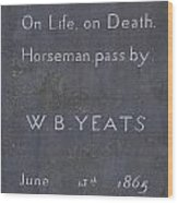 Wb Yeats -one Of Irelands  Greatest Poets Wood Print