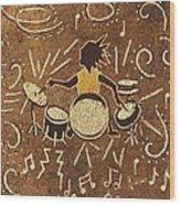 Drummer Wood Print