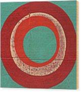 Drunk Circles Five Wood Print