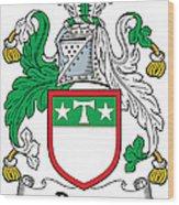 Drury Coat Of Arms Irish Wood Print