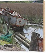 Dry Docked Wood Print by Paula Rountree Bischoff