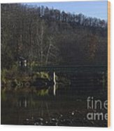 Dry Fork At Jenningston Wood Print by Randy Bodkins