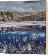 Dry Lagoon Blues Wood Print