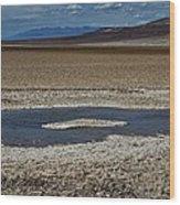 Dry Lake Wood Print