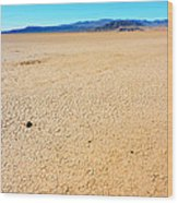 Dry Soil In Death Valley - Color Wood Print