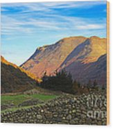Dry Stone Walls In Patterdale In The Lake District Wood Print