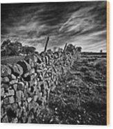 Dry Stone Walls Wood Print