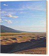 Dry Valley Vista Wood Print