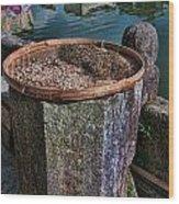 Drying Tea Leaves Wood Print