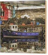 Tobermory Isle Of Mull Wood Print