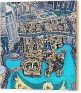 Dubai Downtown - Uae Wood Print