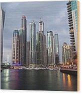 Dubai Marina Afternoon Wood Print