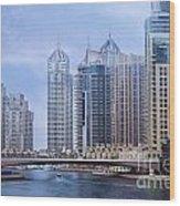 Dubai Marina Wood Print