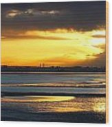 Dublin Bay Sunset Wood Print