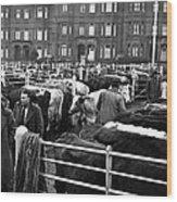 Dublin Cattle Market 1959 Wood Print