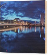 Dublin - Samuel Beckett Bridge Wood Print