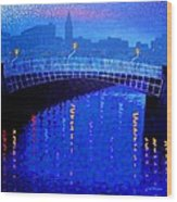 Dublin Starry Nights Wood Print