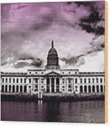 Dublin - The Custom House - Lilac Wood Print