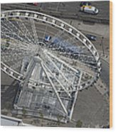 Dublins Big Wheel, Dublin Wood Print