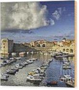 Dubrovnik Harbor Wood Print