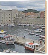 Dubrovnik Old Harbour Wood Print