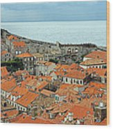 Dubrovnik Rooftops And Walls Wood Print