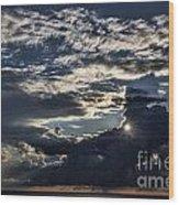 Dubrovnik Sunset Starburst Wood Print