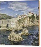 Dubrovnik Walled City Wood Print