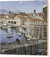 Dubrovnik Walls Wood Print