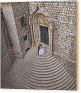 Dubrovnik Wedding Portrait Wood Print