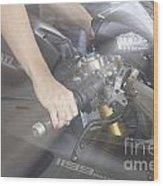Ducati Touch V2 Wood Print