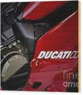 Ducati-unplugged V9 Wood Print