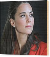 Duchess Of Cambridge Wood Print