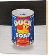 Duck Soap Wood Print