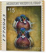 Duck Stamp Art Wood Print